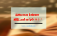 difference between NULL and nullptr in c++